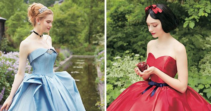 Disney colabora con esta empresa de bodas japonesa para hacer increíbles vestidos de novia de princesa