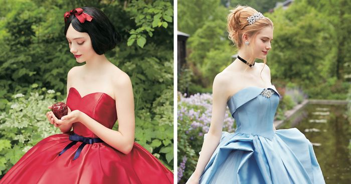 Disney Collabs With Japanese Wedding Company To Make Princess Dresses And They Look Stunning