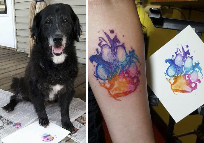 Las huellas de perro quedan genial como tatuajes, aquí tienes la prueba