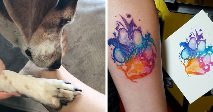 Dog Paw Prints Make The Most Pawesome Tattoos Ever And Heres The