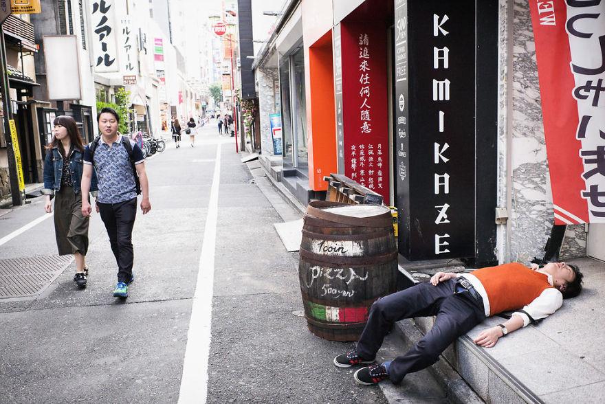Пьяные японцы