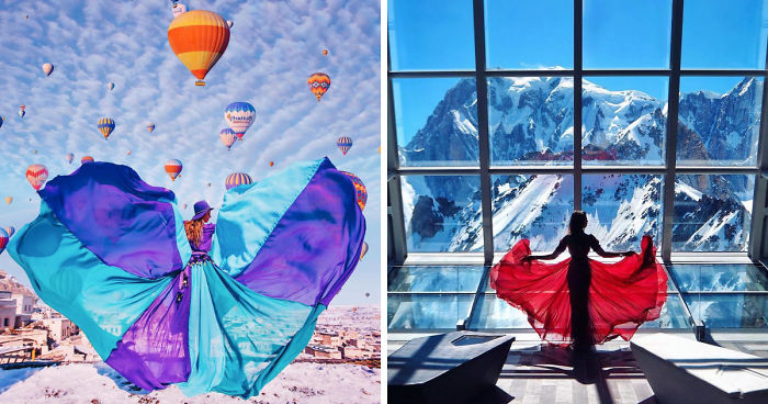 I Travel The World In A Flowy Dress To Take Self-Portraits In The Most Beautiful Places