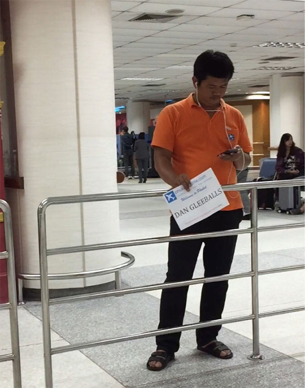 Bart Simpson Requested A Taxi Pickup At The Phuket International Airport