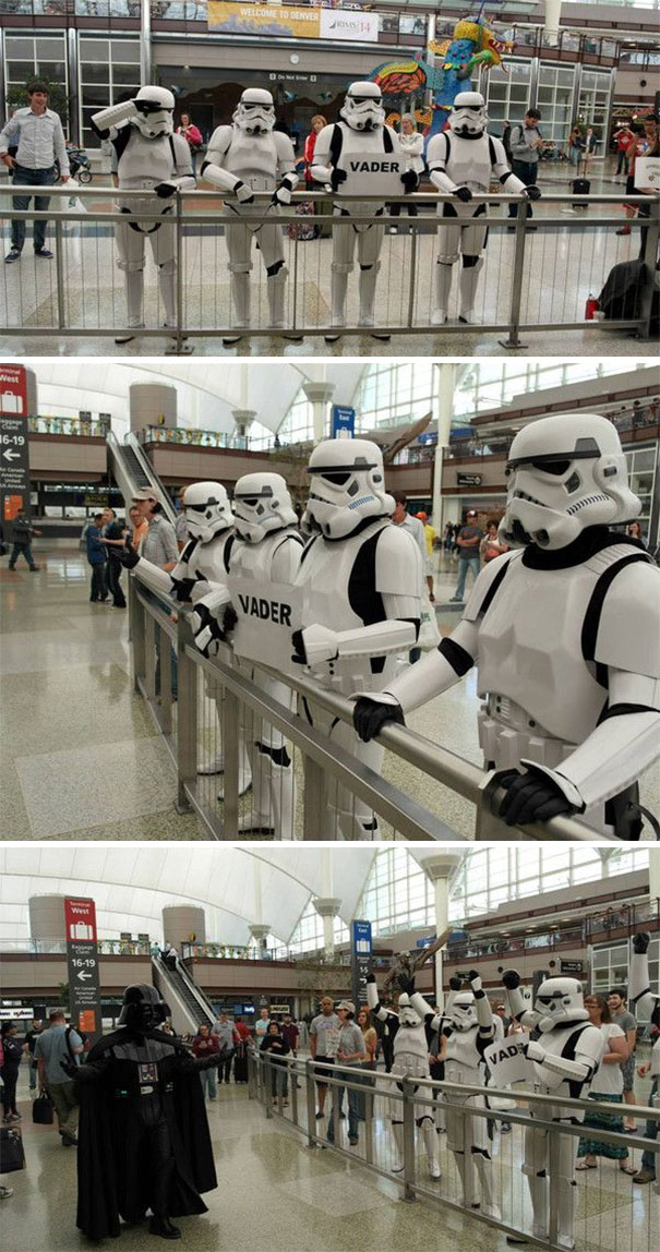 May The 4th Be With You. Darth Vader Arriving At DIA