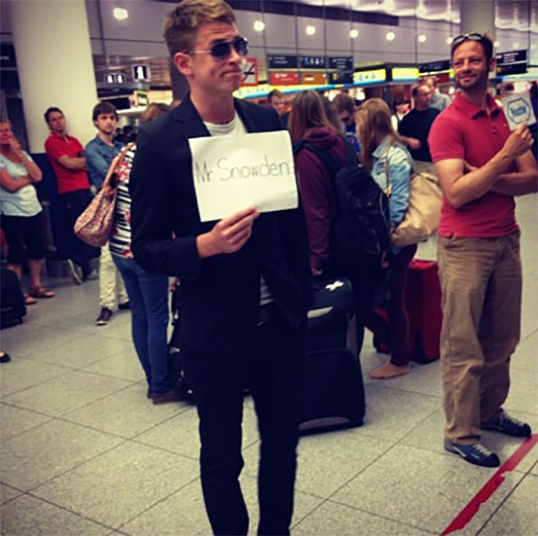 My German Friend's Brother Stood In Their Airport Like This For 2 Hours