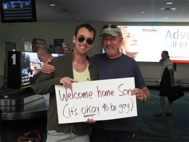 This Dad Who Picks Up His Straight Son From Airport