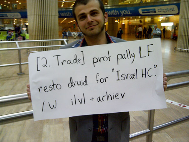 My Buddy (Whom I Met Playing WOW) Came To Pick Me Up At The Airport In Israel