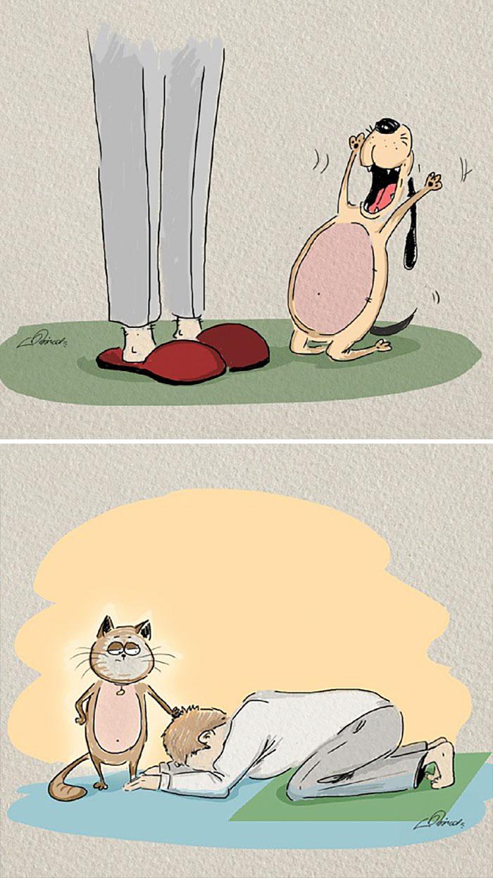 Funny Cats Vs. Dogs Comics