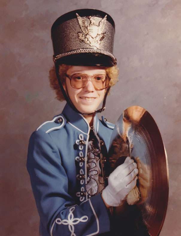 1981. I Thought I Was The **** In My Band Uniform And Permed Hair, And Weighing All Of 90 Pounds (With The Cymbals)