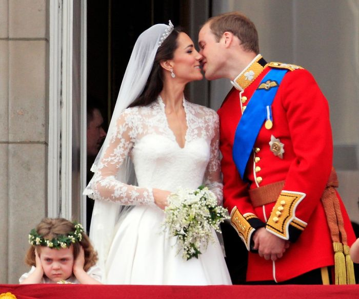 Bridesmaid Grace Van Cutsem During Britain's Prince William's And Catherine's Kiss