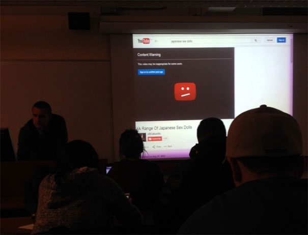 The Moment The Prof Turned On The Projector