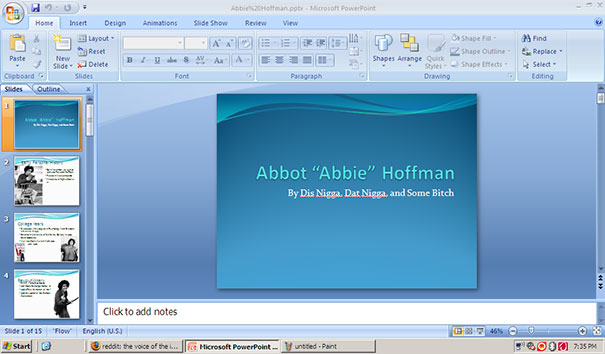 Partner Forgot To Change Our Names In The Presentation He Made Before He Sent It To Our Teacher