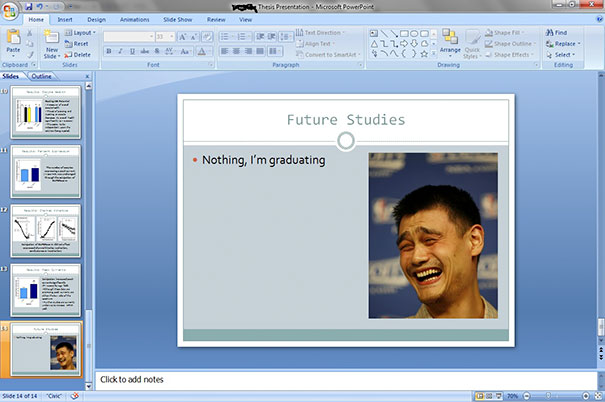 Last Slide Of My Thesis Presentation, Wish Me Luck