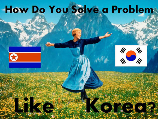 First Slide Of My Power Point Presentation On Korea Reunification