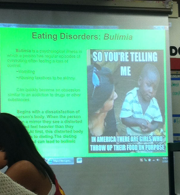 So This Happened During A Group's Presentation During Class Today