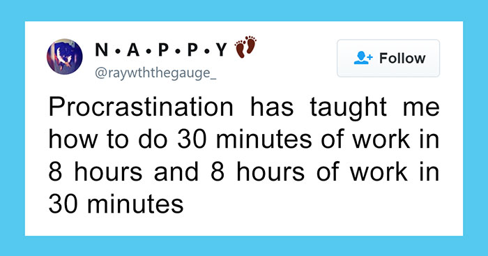 335 Hilarious Posts About Procrastination You Probably Shouldn't Be Reading Right Now
