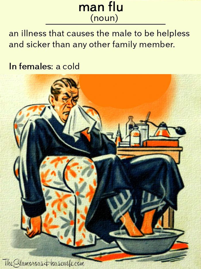 45 Hilarious Posts About Husbands Who Catch A Cold And