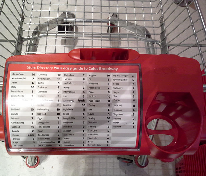 My Local Supermarket Now Has A Store Directory On The Shopping Trolly