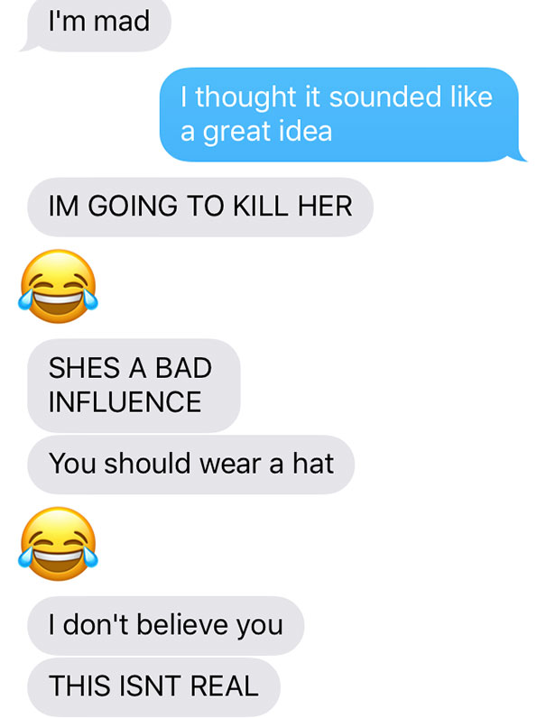 Girlfriend Texts Boyfriend She Shaved Her Head, Doesn't Expect