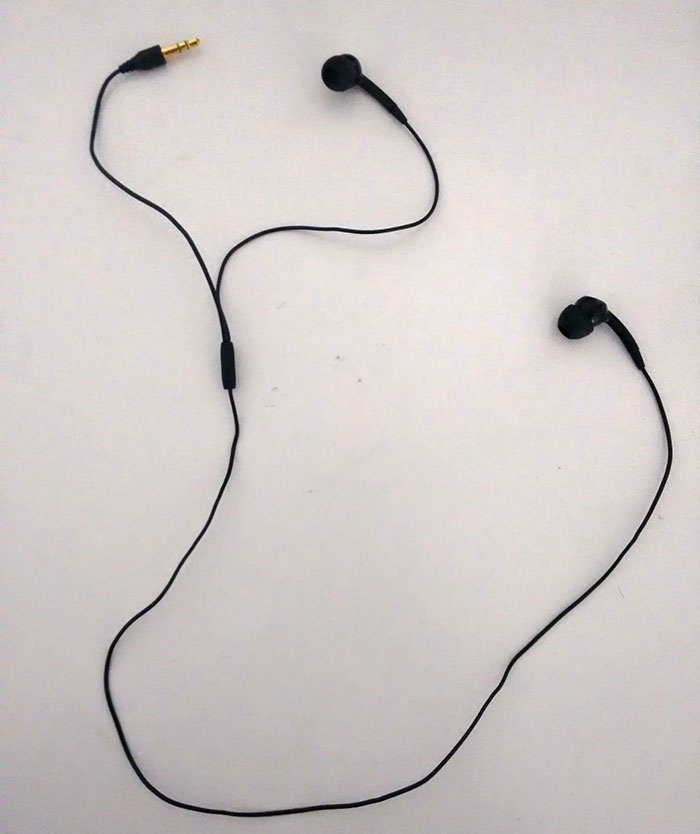 These Earphones Were Made With One Of The Earpieces Swapped With The Input Jack