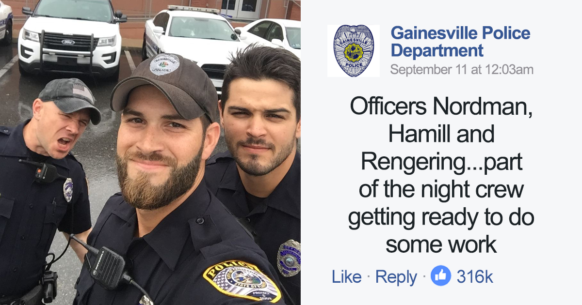 Hot Florida Cops Rescuing People During Hurricane Irma Post Their Selfie, And Comments Are Almost NSFW