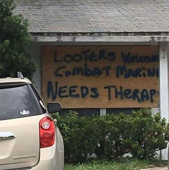 Looters Welcome Combat Marine Needs Therapy