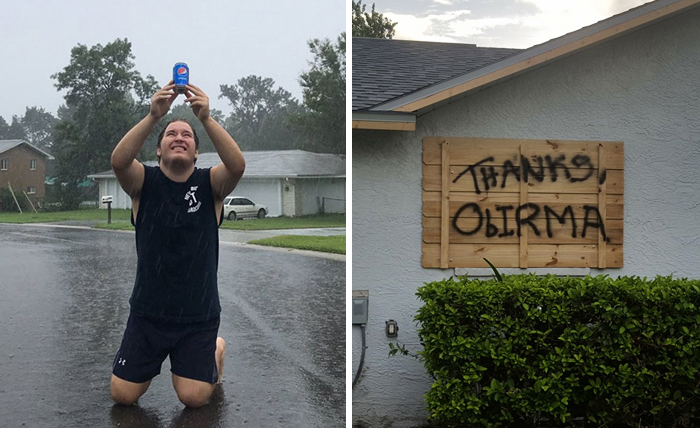 10+ Floridians Who Fought Hurricane Irma With A Sense Of Humor, And Won The Internet