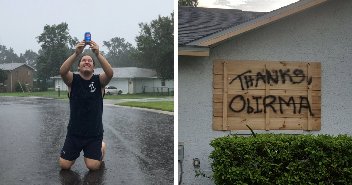 20+ Floridians Who Fought Hurricane Irma With A Sense Of Humor, And Won The Internet