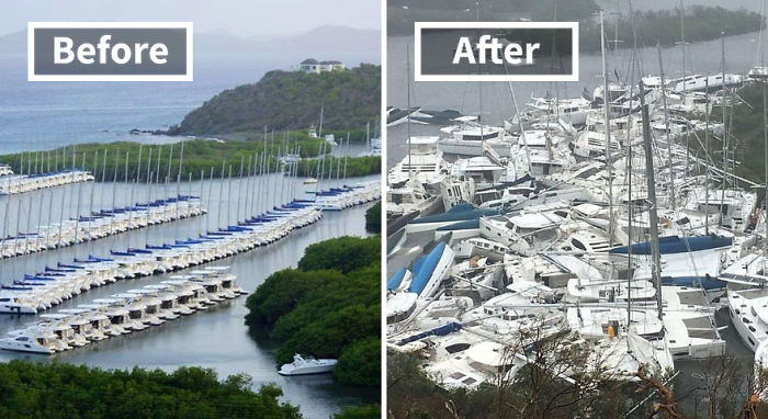 Paraquita Bay (Before And After Irma Damage)