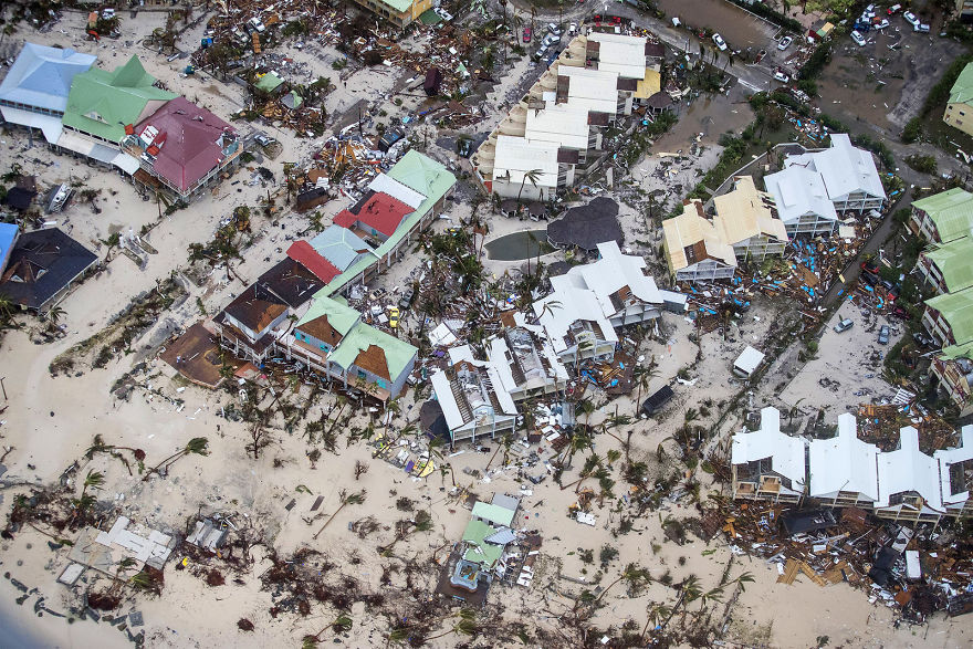 An Aerial Photograph Taken And Released By The Dutch Department Of Defense On Wednesday Shows The Damage Of Hurricane Irma In Philipsburg On The Dutch Caribbean Territory Of Sint Maarten