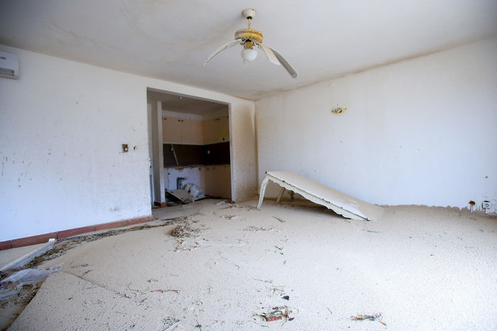 The Interior Of A Home In Marigot, Saint Martin, Is Left Filled With Sand Following The Passage Of Hurricane Irma