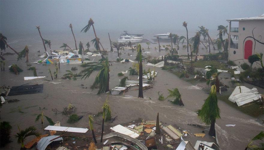 Irma Flood In Beach In Marigot