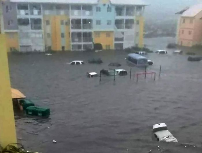 The Flooding In St Martin