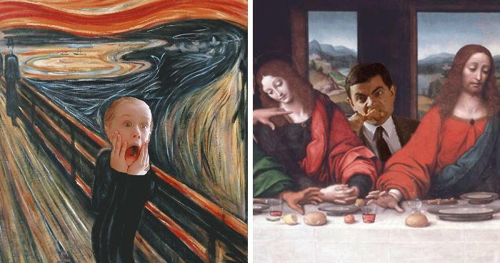 I Reimagine Old Paintings With Pop Culture Elements Bored Panda