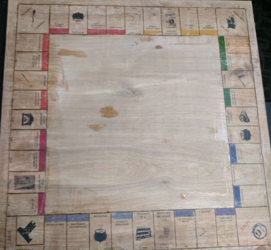 I Made A Harry Potter Monopoly Board For My Best Friend's Birthday