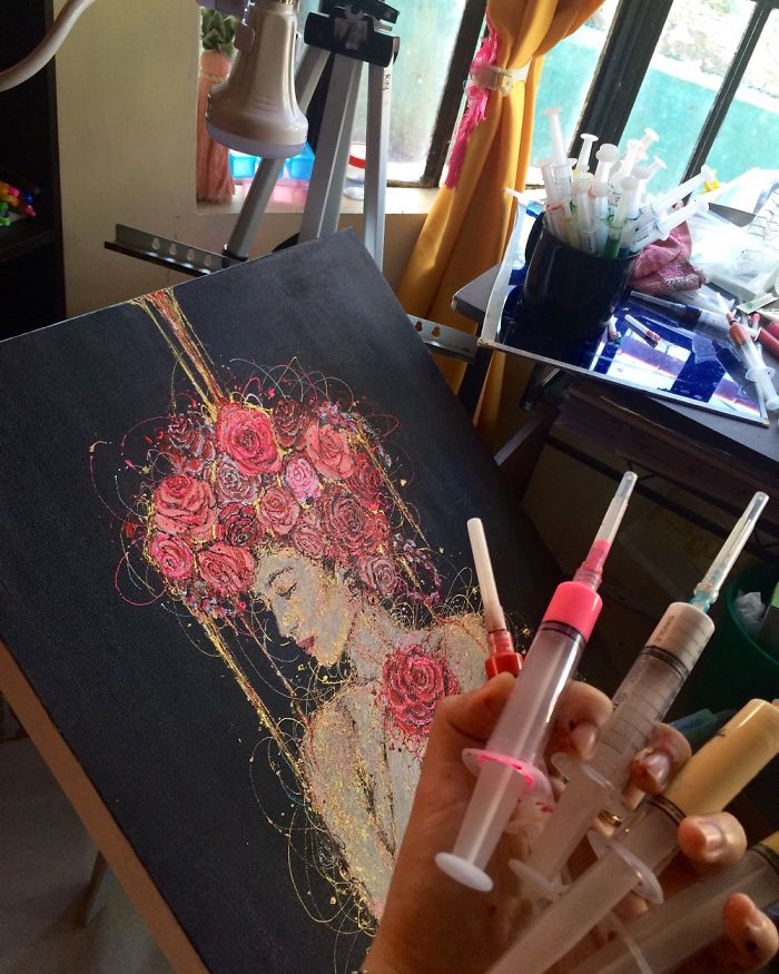 I'm A Nurse And I Use Syringes To Paint In My Free Time (Part 2)
