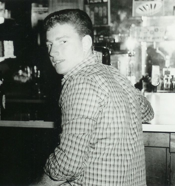 My Dad About 18 Years Old, Keeping The Bar Warm For His Buddies Circa 1960 Bronx Nyc