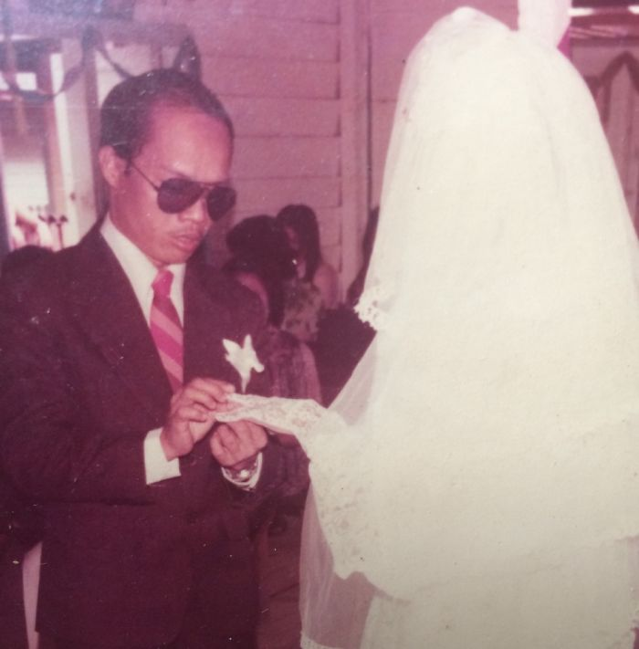 My Dad Refused To Take Off His Shades During Wedding Ceremony (1978)