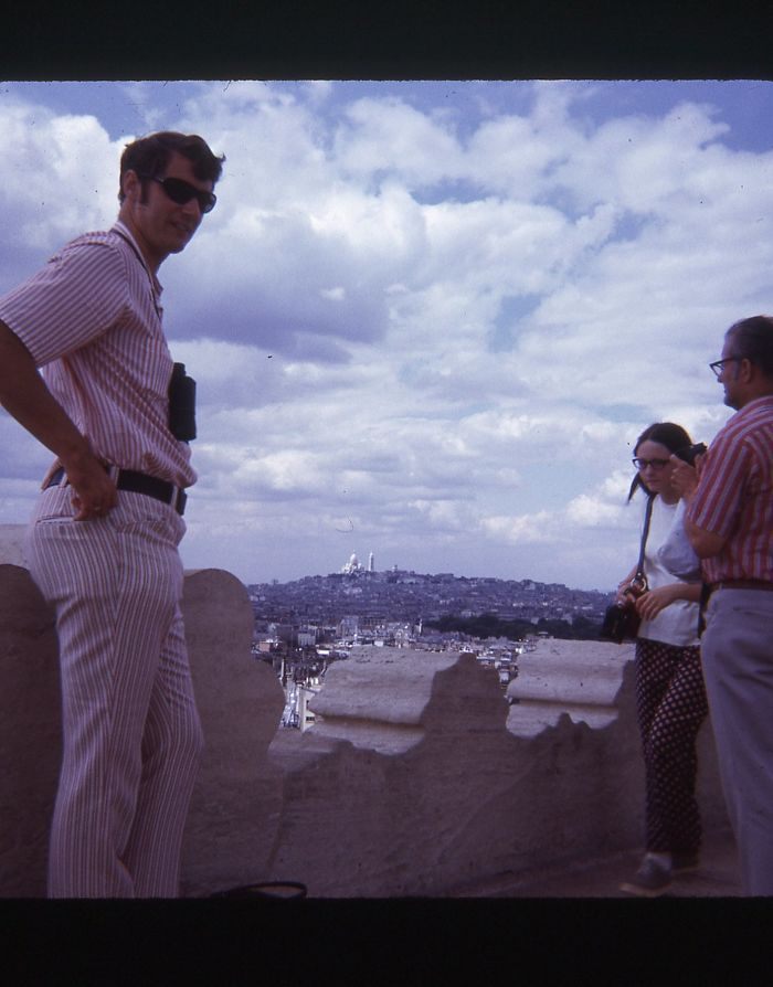 Fashion Sense Aside, My 6'6″ Dad Always Knows How To Strike A Boss Pose. European Vacation Circa 1970.