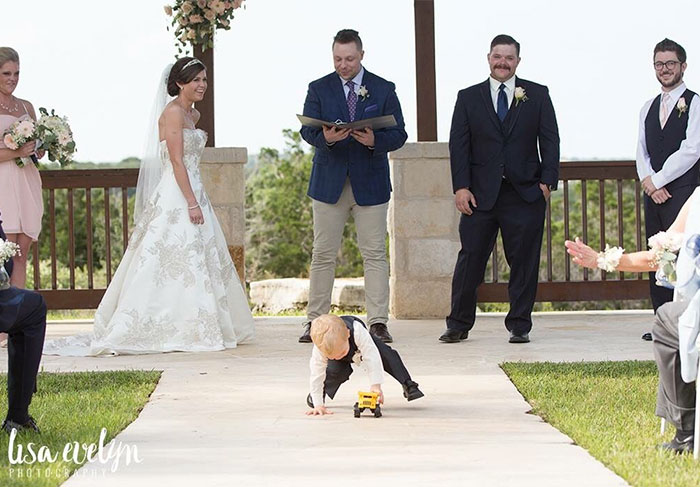 Received Some Of Our Wedding Photographs From Our Wedding Last Week. Our Son Stole The Show