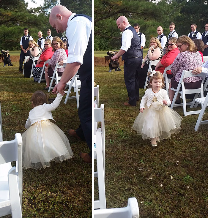 I Went To A Wedding Yesterday. The Flower Girl Wasn't Feeling It