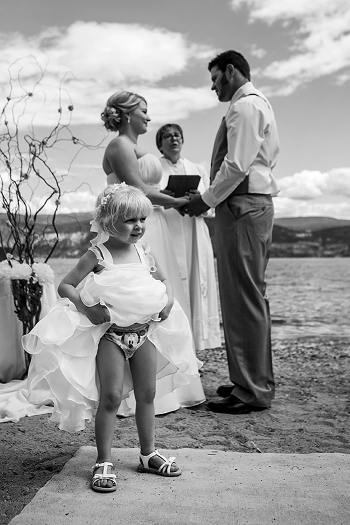 This Flower Girl Who Just Doesn't Care About The Vows
