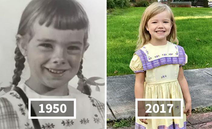 19 Niñas han llevado este mismo vestido en su primer día de guardería en los últimos 67 años