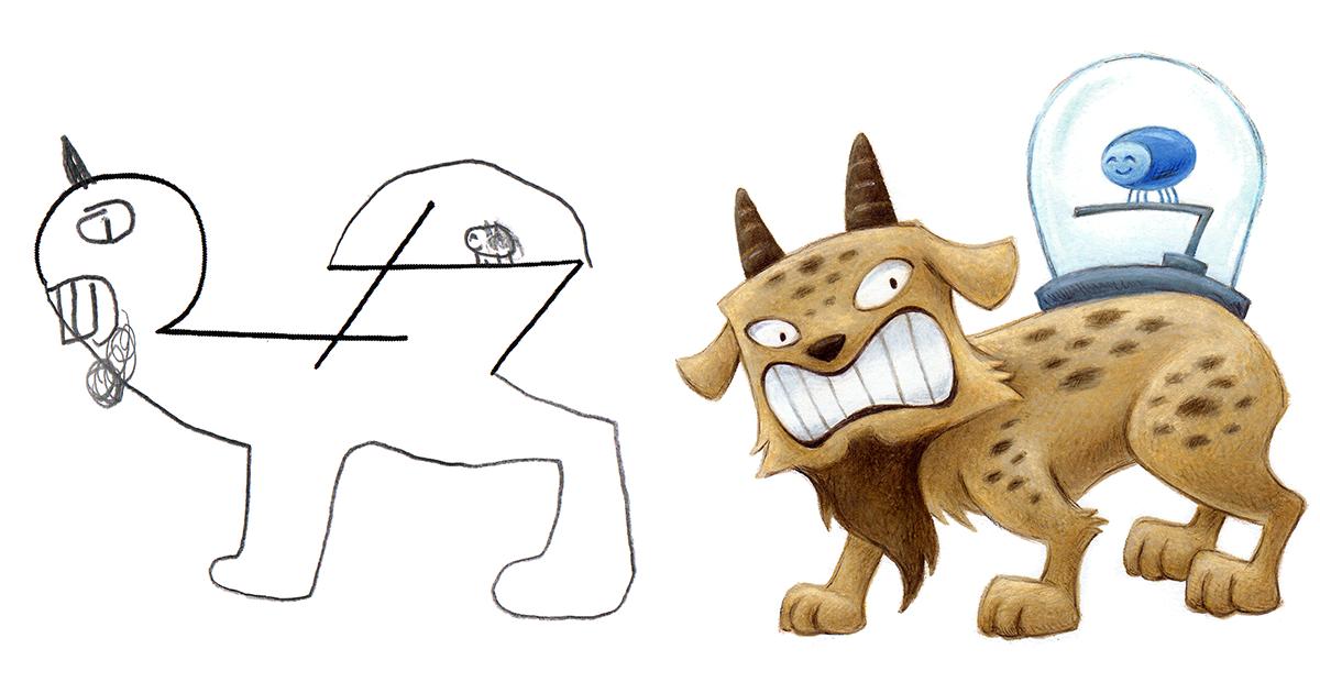 pasé el verano dibujando 150 monstruos basándome en dibujos