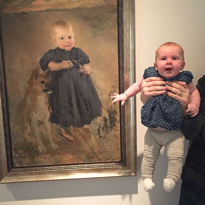 We Found Our Baby's Doppelgänger At The Gallery