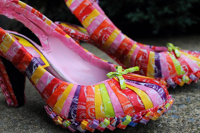 I Made A Purse And Heels To Match The Dress Made Of 10k Starburst Wrappers