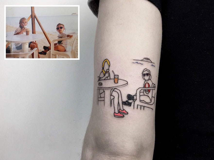 Artist Turns Your Most Nostalgic Childhood Pics Into Stylish Tattoos