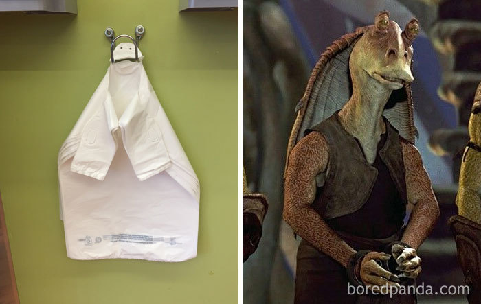 This Shopping Bag Holder Looks Like Jar-Jar Binks