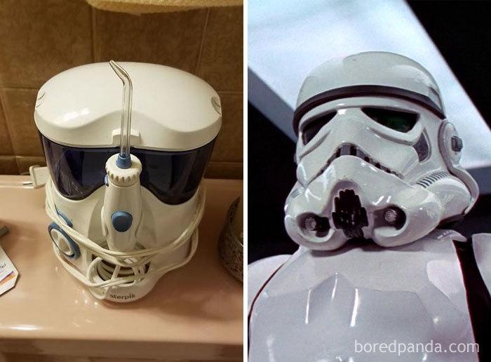 My Mom's Water Pick Looks Like Stormtrooper Helmet