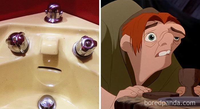 Lavabo parecido a Quasimodo